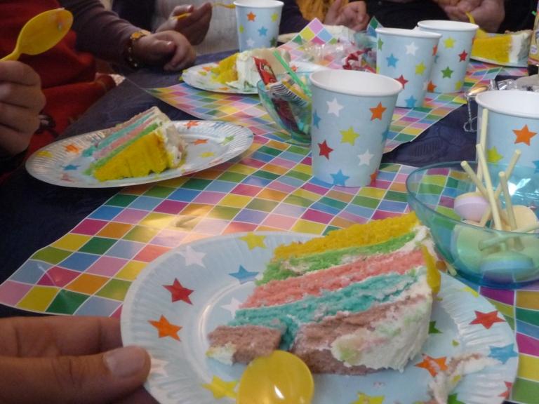 rainbow cake anniverssaire