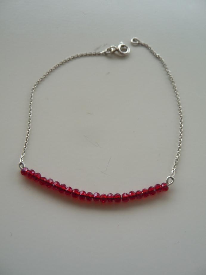 Bracelet argent cristaux Swarovski