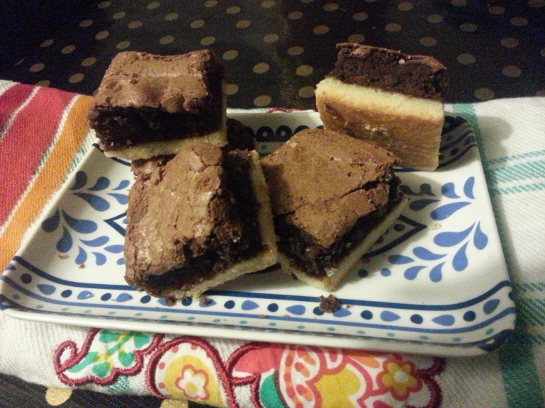 Shortbread brownie