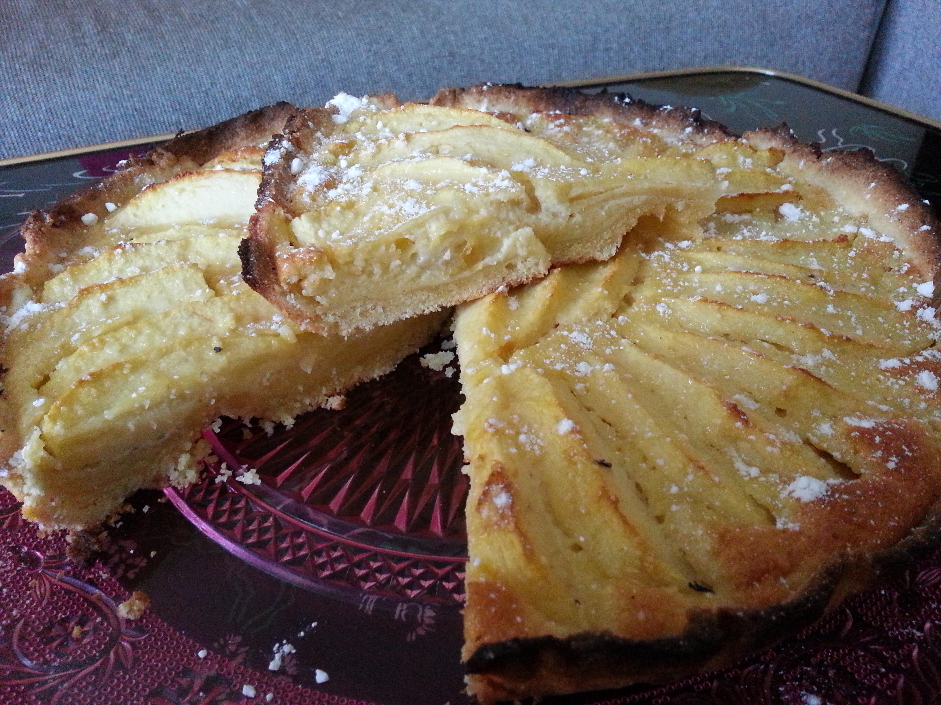 Tarte aux pommes sur cr me d amandes - Tarte aux pommes compote maison ...