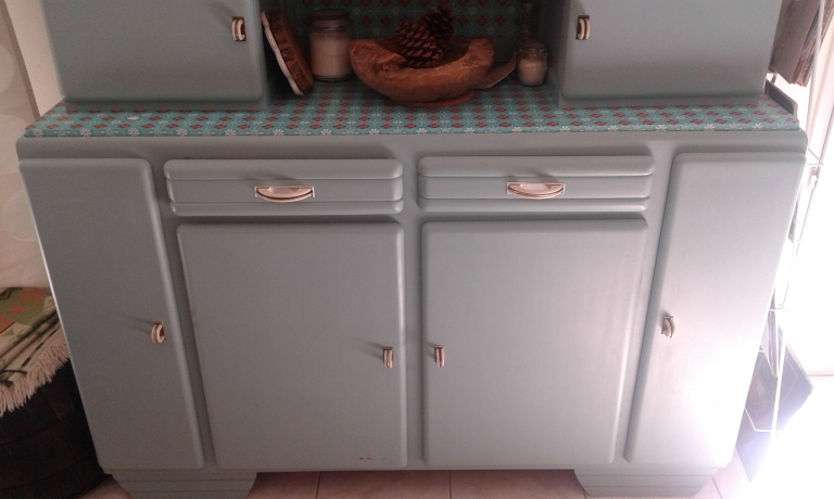 Buffet mado vintage turquoise 1950 1960
